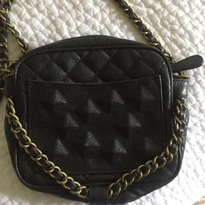Rachel Roy leather and chain purse